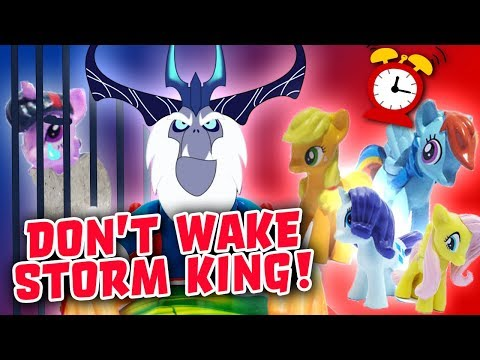 Don't Wake Daddy Storm King My Little Pony Game w/ Twilight Sparkle, Rainbow Dash & Fluttershy!