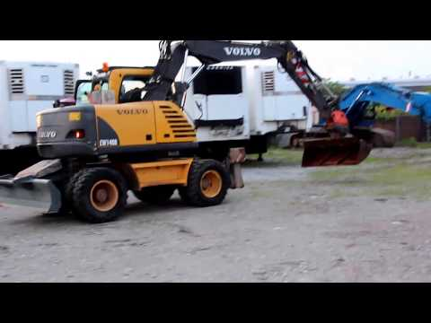 Volvo Ew 140b Wheeled Excavator From 2007 15 7 Tons At