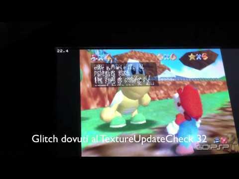 Daedalus X64 R709 PSP   Mario64 near fullspeed with audio
