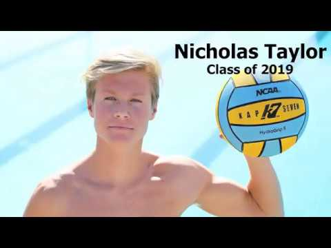 Nicholas Taylor - College Water Polo Recruiting Video (Class of 2019)