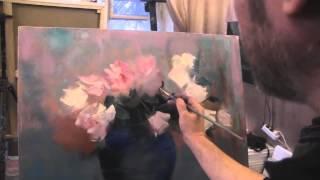 """Видеоурок Сахарова """"Как научиться рисовать цветы, вазу"""" живопись для начинающих, уроки рисования"""