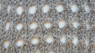 Вязание спицами. Ажурный узор