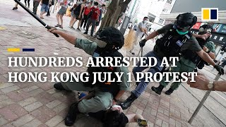 Hundreds arrested, thousands protest in Hong Kong during first day under new national security law