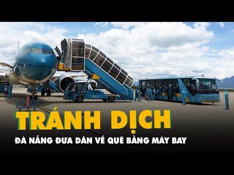 Máy bay vừa hạ cánh, đưa 227 người dân Đà Nẵng ở TP.HCM về quê tránh dịch