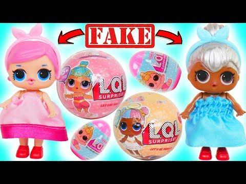 Fake LOL Surprise Dolls Dress Up Transformation + Lil Sisters!