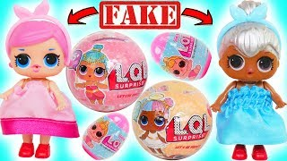 Fake LOL Surprise Dolls Dress Up Transformation + LQL Lil Sisters Custom DIY Magical Game PlayVideo!