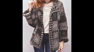 Tığ işi örgü motifli bayan kazak hırka modelleri & Crochet