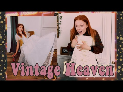 unpacking-vintage-and-trying-on-vintage-wedding-dresses