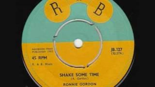 """Ronnie Gordon  - """" Shake some time """""""