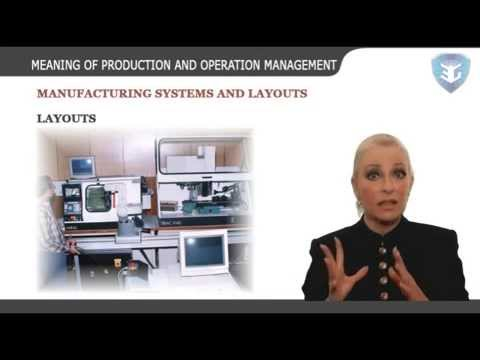 MEANING OF PRODUCTION AND OPERATION MANAGEMENT