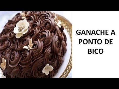 RECEITA COBERTURA DE GANACHE DE CHOCOLATE A PONTO DE BICO