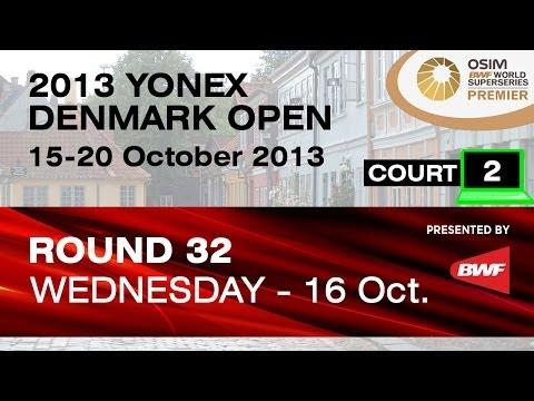 R32 (Court 2) - MD - H.Endo / K.Hayakawa vs N.Nohr / N.Overgaard - 2013 Yonex Denmark Open