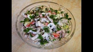 Очень ВКУСНЫЙ салат с ЯЗЫКОМ и СЛАДКИМ перцем Салат рецепт Салаты рецепты Salads recipes