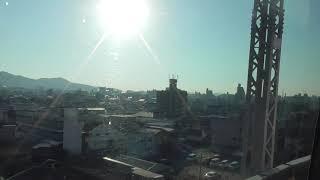 ハローキティ新幹線 こだま730号 徳山到着 メロディ& 車窓