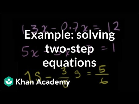Example: two-step equations | Linear equations | Algebra I | Khan Academy
