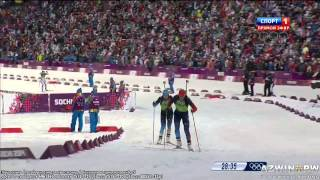 Sochi Olympics Biathlon Women Relay / Биатлон женская эстафета в Сочи(Women 4x5km biathlon relay in the Sochi Olympics 2014 4 по 5км женская эстафета на олимпиаде в Сочи 2014., 2014-02-21T17:14:56.000Z)