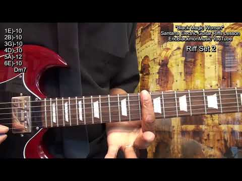 How To Play BLACK MAGIC WOMAN 8 Carlos Santana Guitar Solo RiffsWith TABS