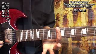 How To Play BLACK MAGIC WOMAN 8 Carlos Santana Guitar Solo Riffs  With TABS