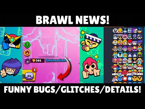 FUNNY BUGS/GLITCHES/DETAILS! | Brawl News! | October Update! | Brawl Stars.