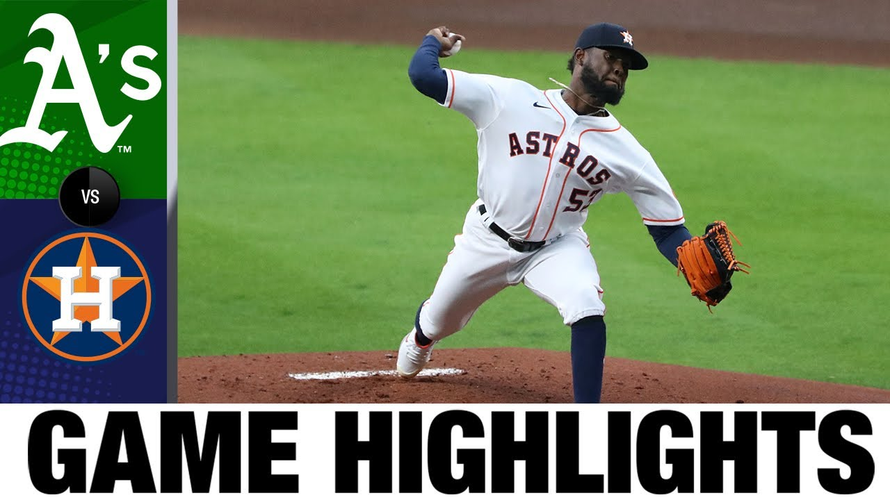 Download A's vs. Astros Game Highlights (4/8/21) | MLB Highlights