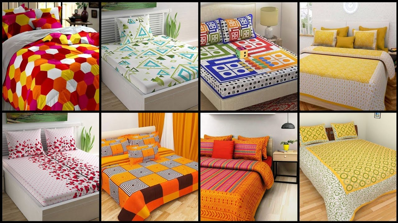 Top 50 Designer Bedsheets Designs/pure Cotton Florida king Size  Bed Sheets