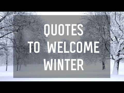 8 Quotes To Welcome The Winter Season