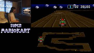 "Super Mario Kart - Ghost Valley 3 - 1'34""62 by meauxdal (18""36 flap)"