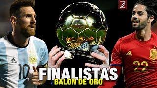 Los Finalistas Clasificados a Ganar el Balón de Oro 2017 | Top5