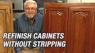 Refinish Kitchen Cabinets Without Stripping Youtube