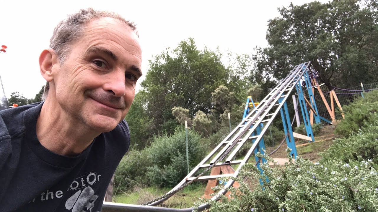 backyard roller coaster chain lift update youtube