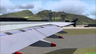 FSX Malaysian Airlines A380 San Francisco to Hong Kong