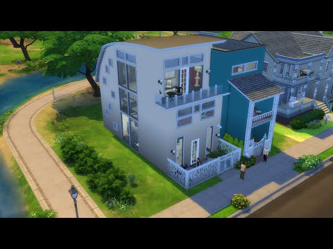 THE SIMS 4 SPEED BUILD + GUIDED HOUSE TOUR: Semi-Detached House (Contemporary + Modern)
