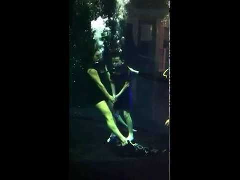 Oaklee Pendergast: Woman in Black Angel of Death Underwater Rehearsals