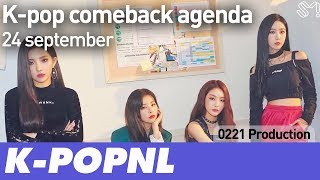[AGENDA] K-pop Comeback Agenda: 24 September 2018 — K-POPNL