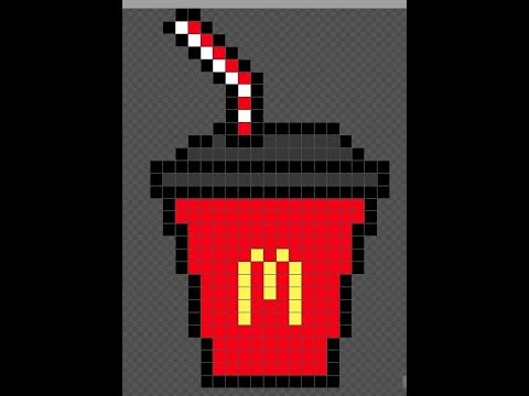 Pixel Art Mcdonald Drink