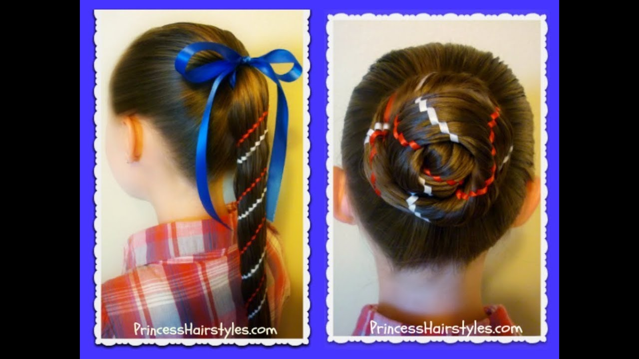 Aztec Carousel Braid Ponytail And Bun 4th Of July