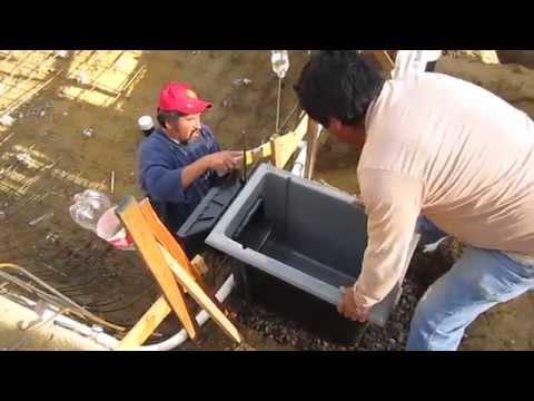Poolskim automatic pool surface skimmer installation with for Koi pond skimmer installation
