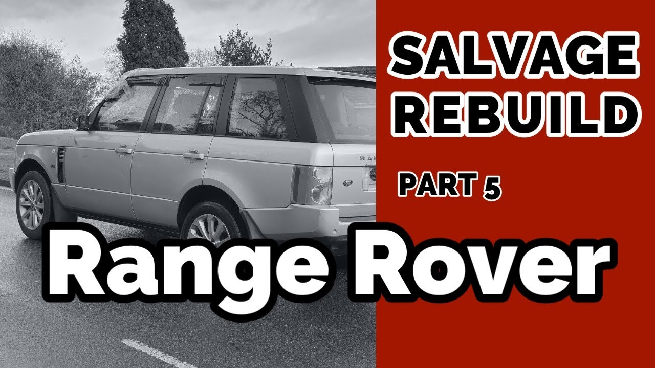 Range Rover Salvage Replacing Bonnet and Wing