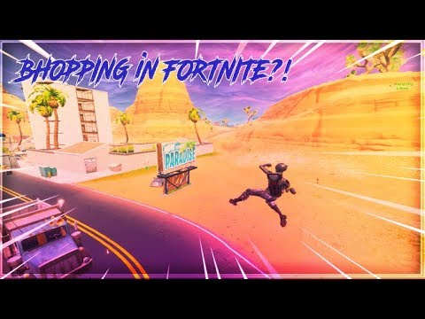 BHOPPING on Fortnite ?! (New Fortnite Trick)