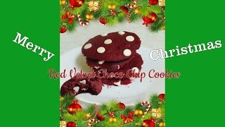 5-minutes Red Velvet Choco Chip Cookies Video Recipe By Bhavna