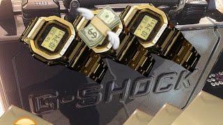 18k gold dw 5000 g shock display event   proteca x gshock watch case