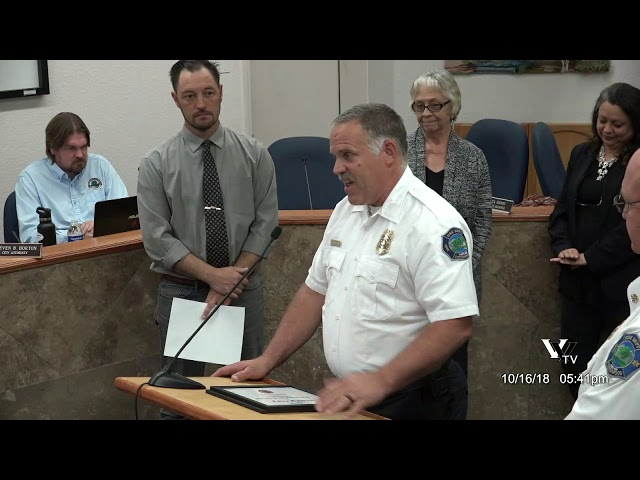 Cottonwood City Council Awards, Proclamations and New Employees October 16 2018