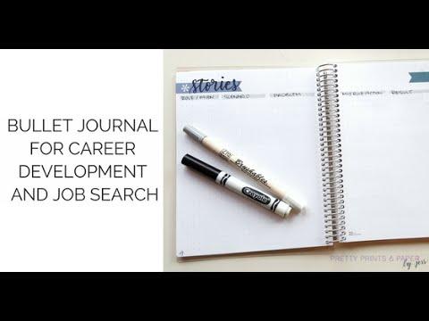 Bullet Journal for Career & Job Searching