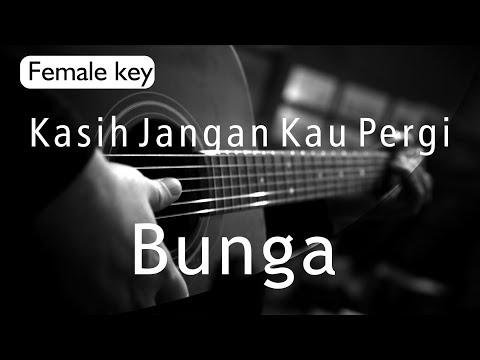 Kasih Jangan Kau Pergi - Bunga   Yura Yunita Version   ( Acoustic Karaoke )