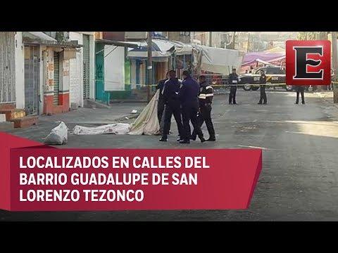 Abandonan en Iztapalapa tres cuerpos con señales de tortura