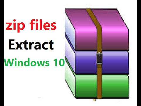 How To Extract Files In Windows 10 - YouTube