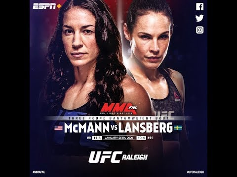 UFC Fight Night 166:  Сара МакМанн vs. Лина Лансберг