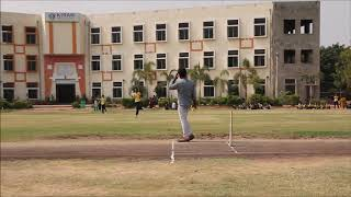 Kiran International School - Students practicing cricket for the sports day 2019