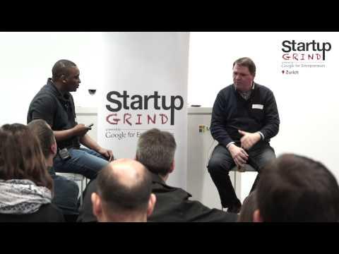 Sven Beichler )ChocoGreets) at Startup Grind Zurich