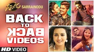 Download Hindi Video Songs - Sarrainodu Songs   Sarrainodu Video Teasers Back To Back    Allu Arjun,Rakul Preet   SS Thaman